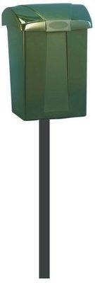 Ptt brievenbus Cofa groen zonder slot met paal