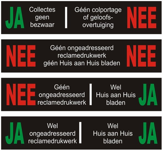 JA/NEE stickers